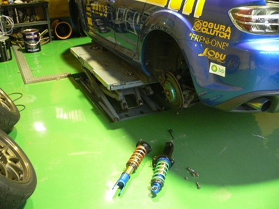 RX−8用試作ダンパー 実車テスト 開始