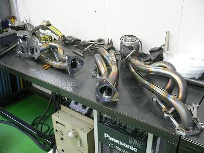 RX−8用 エキマニ 製作