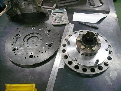 エンジンベンチ TA−2専用フライホイール 製作