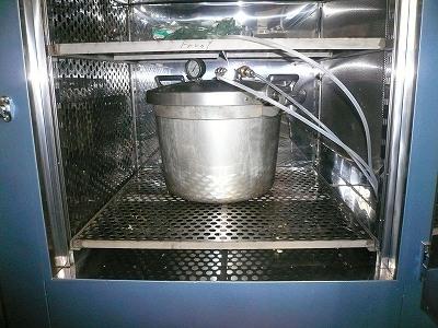 ドライカーボン 窯+オートクレープ(鍋) 加圧テスト