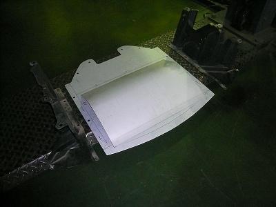 RX−8 用アンダースイープパネル 試作 型 製作