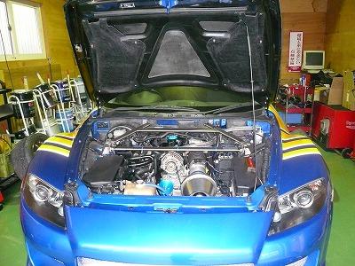 デモカー RX−8 エンジン オーバーホール終了
