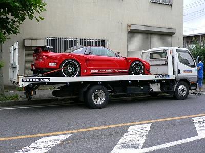 NSX 千葉引取り→川口(工場)→群馬納車