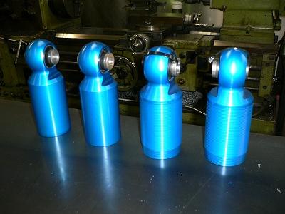 RX-8、FD3S用 オリジナルダンパー試作部品 組み立て確認
